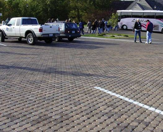 Example of interlocking pavers